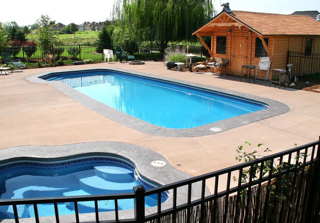 Image of Elite Pool Builders Fiberglass In-ground Pool Installation