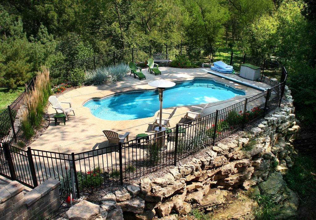 Image of In-ground Fiberglass Pool Accessories Ontario